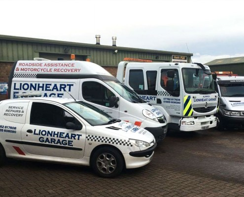 Lionheart Garage Fleet