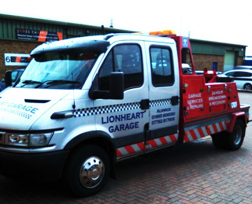 Lionheart Garage Recovery Vehicle